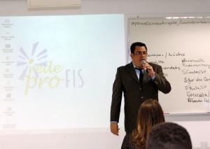 O presidente da Rede Profis, Rodrigo Brosco, no Encontro Nacional de 2014, em Bauru